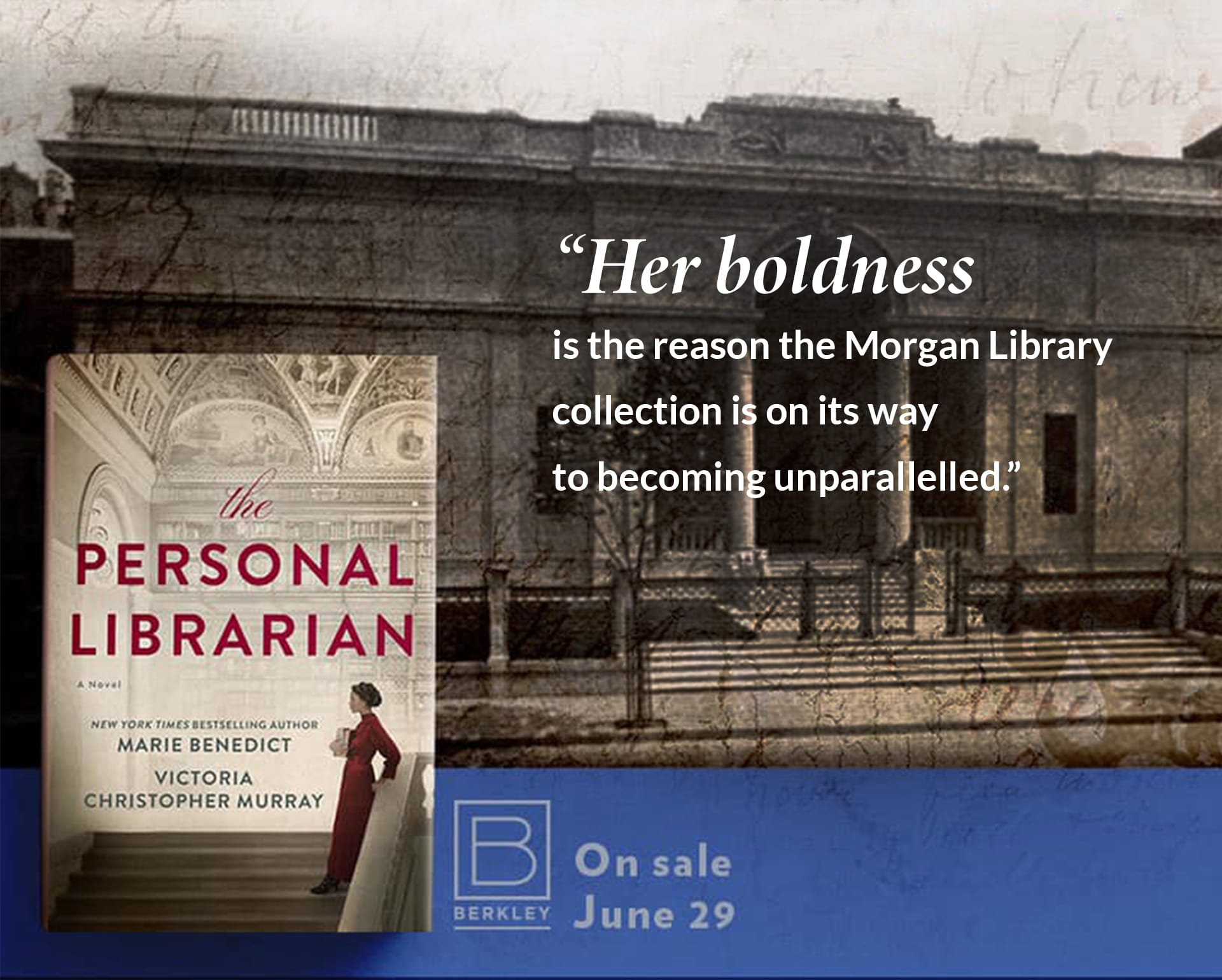 The Personal Librarian On Sale on June 29